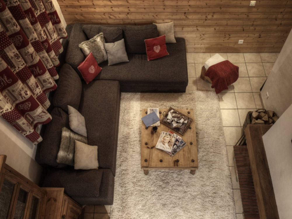 The chalet is spacious and modern.