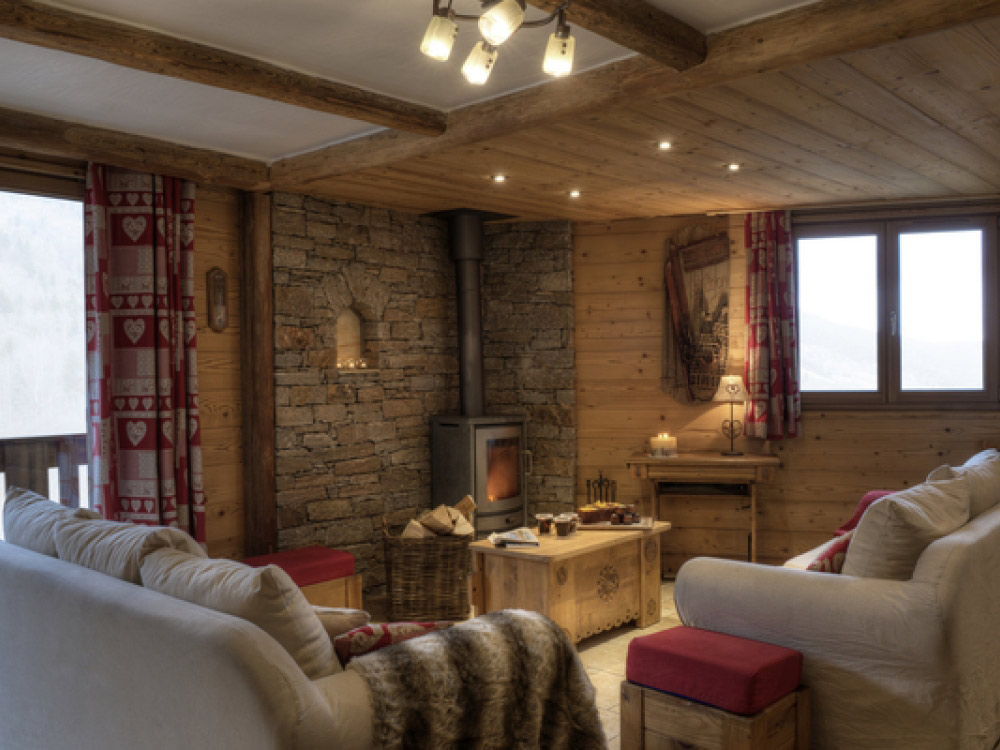 The chalet is cosy and modern.