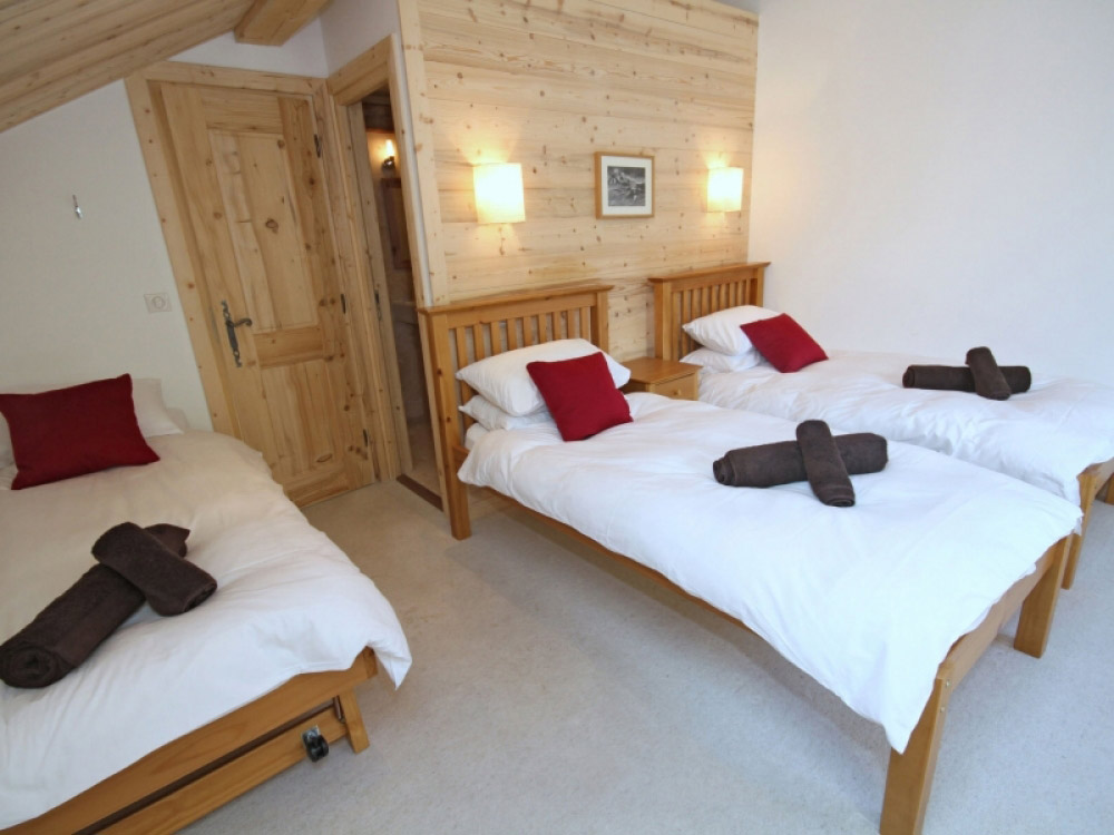 One of Chalet Jouet's comfortable bedrooms, we accommodate up to 11