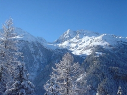 The stunning mountain views from the chalet