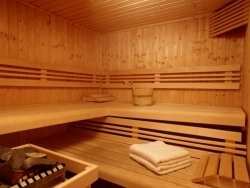 Our sauna at Chalet Renardeaux