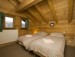 Charming bedrooms at Chalet Balkiss in La Tania