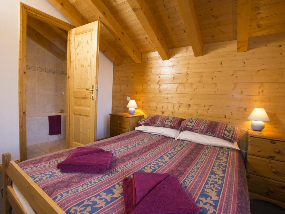 Charming bedrooms at Chalet Anniek in La Plagne
