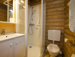 One of the 12 bathrooms at Chalet Christine