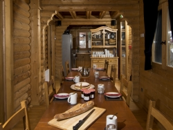 The cosy dining area of Chalet Christine