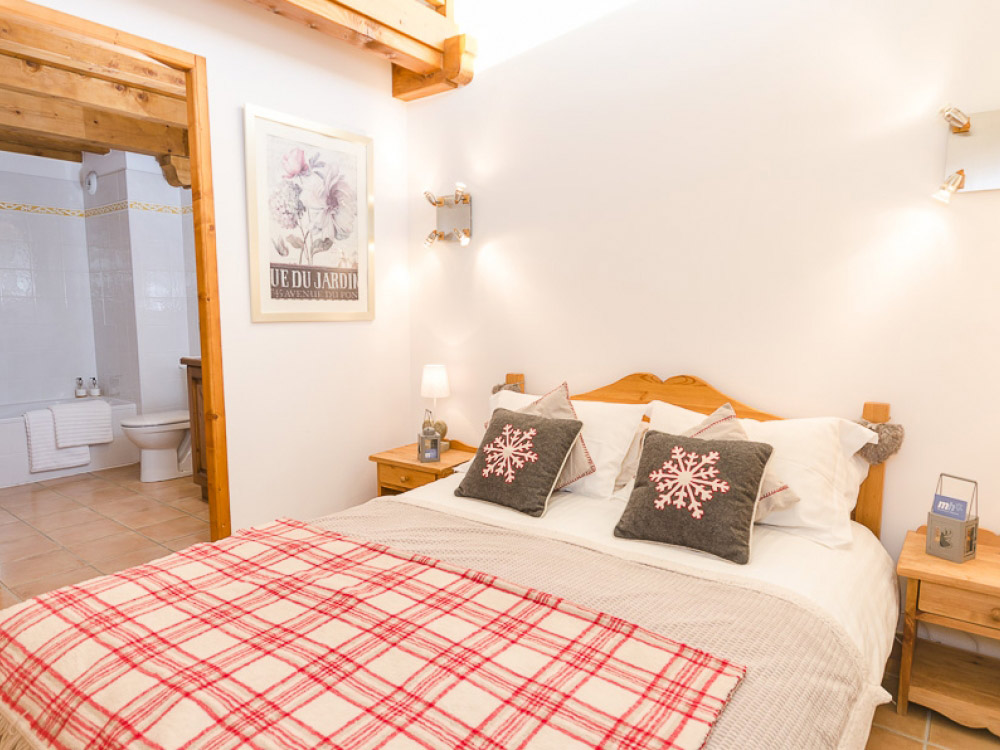 One of Valerie's sophisticated bedrooms. The chalet sleeps up to 8.