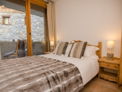 One of the Chalet's cosy, comfortable and expertly furnished bedrooms