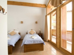 Charming bedrooms at The Penthouse in La Rosière