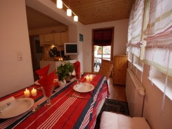 The chalet is modern.