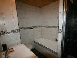One of the 8 bathrooms at Chalet Starski
