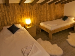 Welcoming bedrooms at Chalet Cosmique in Chamonix