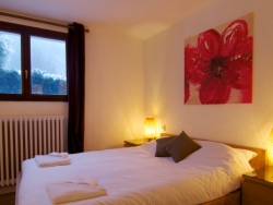Charming bedrooms at Chalet Cosmique in Chamonix