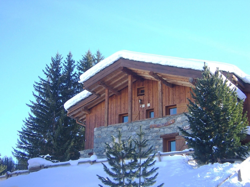 Comfortable Chalet Ancolies Lodge in La Plagne accommodates up to 21