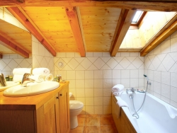 One of the 9 bathrooms at Chalet Ancolies Lodge