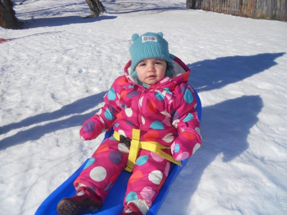 Sledging at Chalet Pisteside
