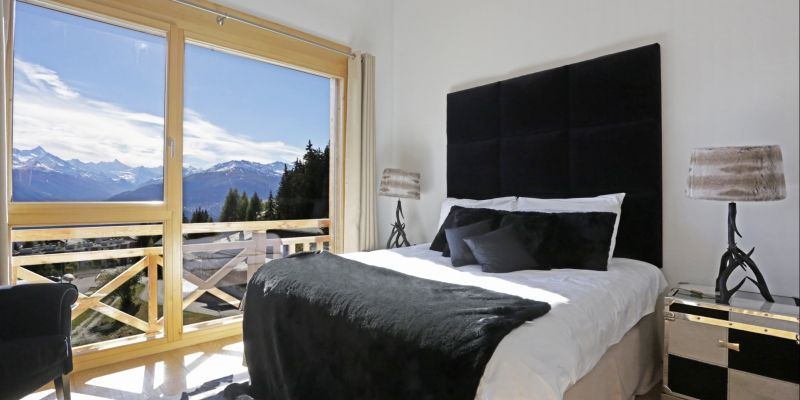 Attractive bedrooms at Chalet Benou in Crans-Montana