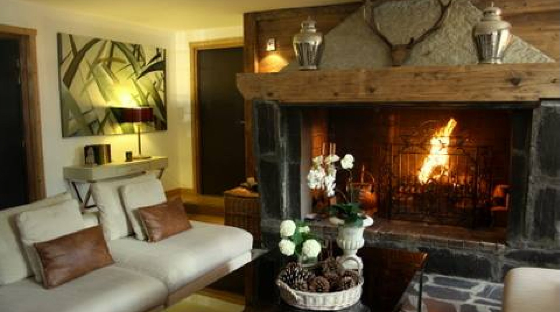 The huge open fire place