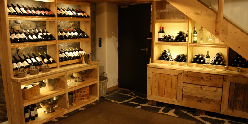 Guests enjoy the choice of a huge range of wines from our cellar