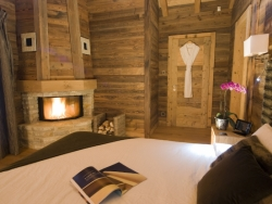 One of Chalet Ighzer's welcoming bedrooms