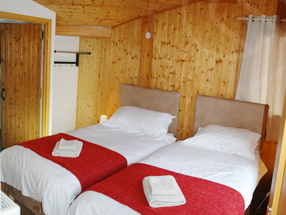 The chalet is modern and comfortable.