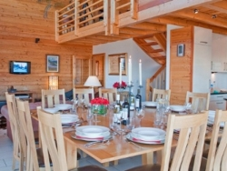 Chalet La Luge was cleverly designed with plenty of space including a separate cinema/TV room