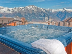 Welcome to our hot tub, a perfect way to relax after a strenuous day on the mountain
